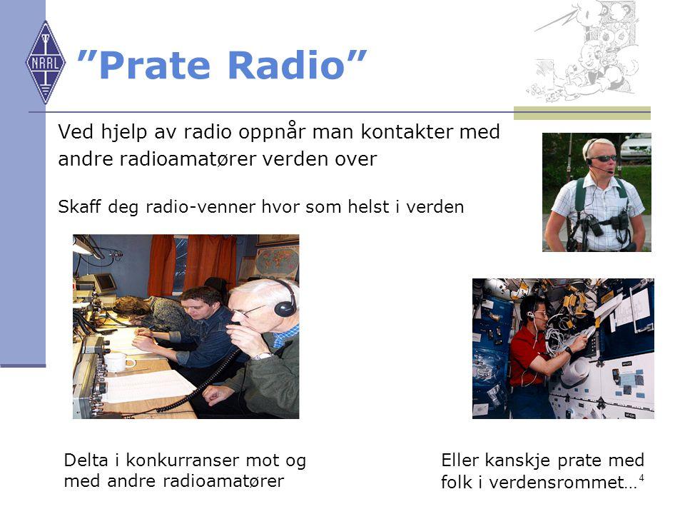 Prate Radio Ved hjelp av radio oppnår man kontakter med