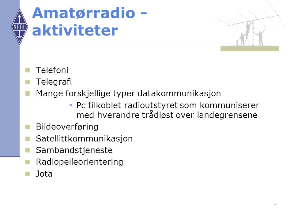 Amatørradio - aktiviteter