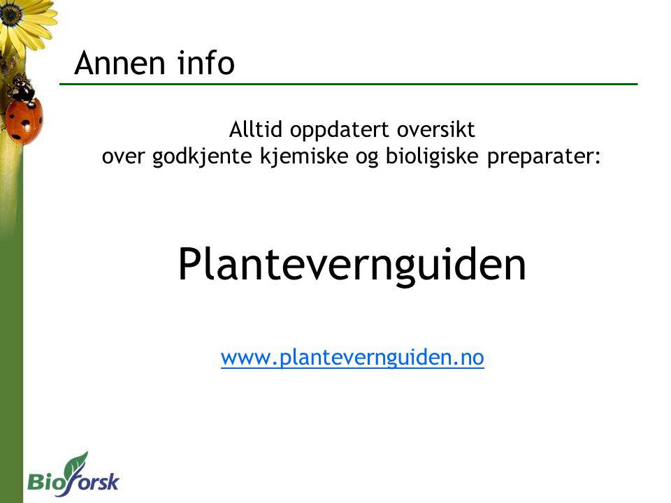Plantevernguiden Annen info