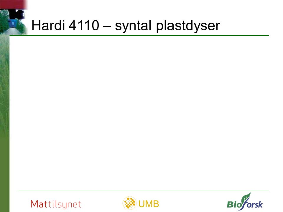 Hardi 4110 – syntal plastdyser