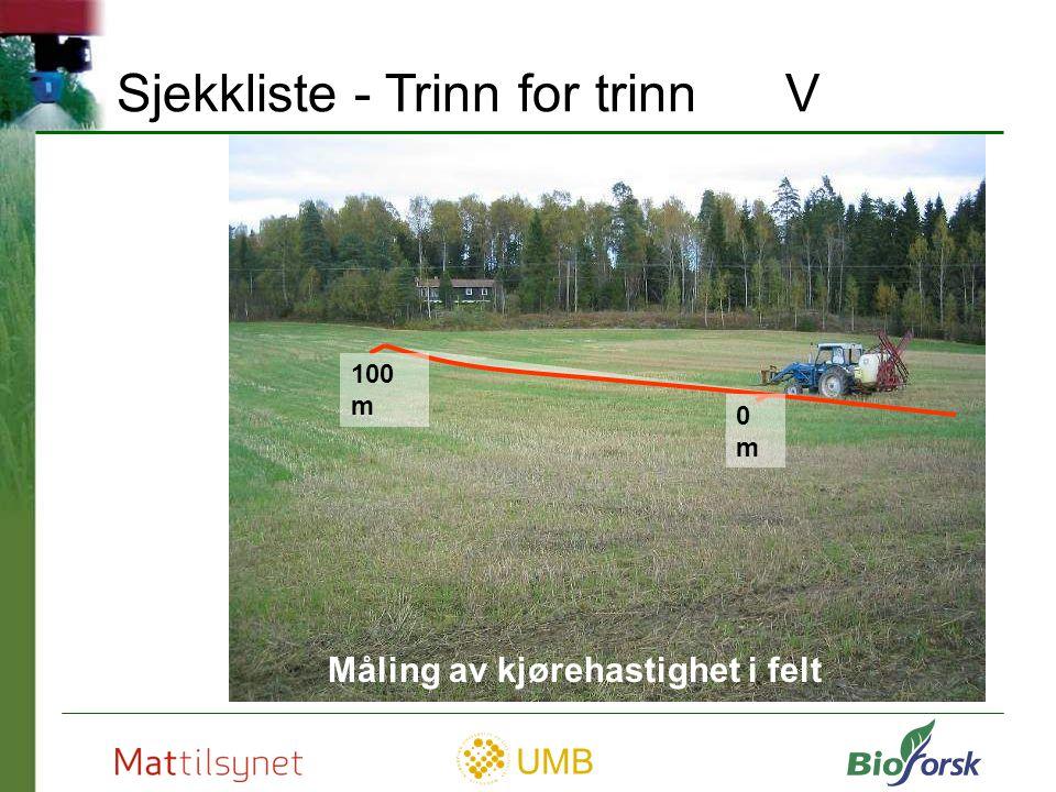 Sjekkliste - Trinn for trinn V