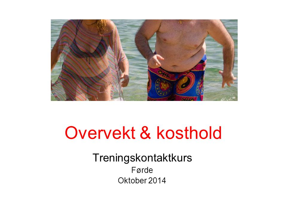 Treningskontaktkurs Førde Oktober 2014