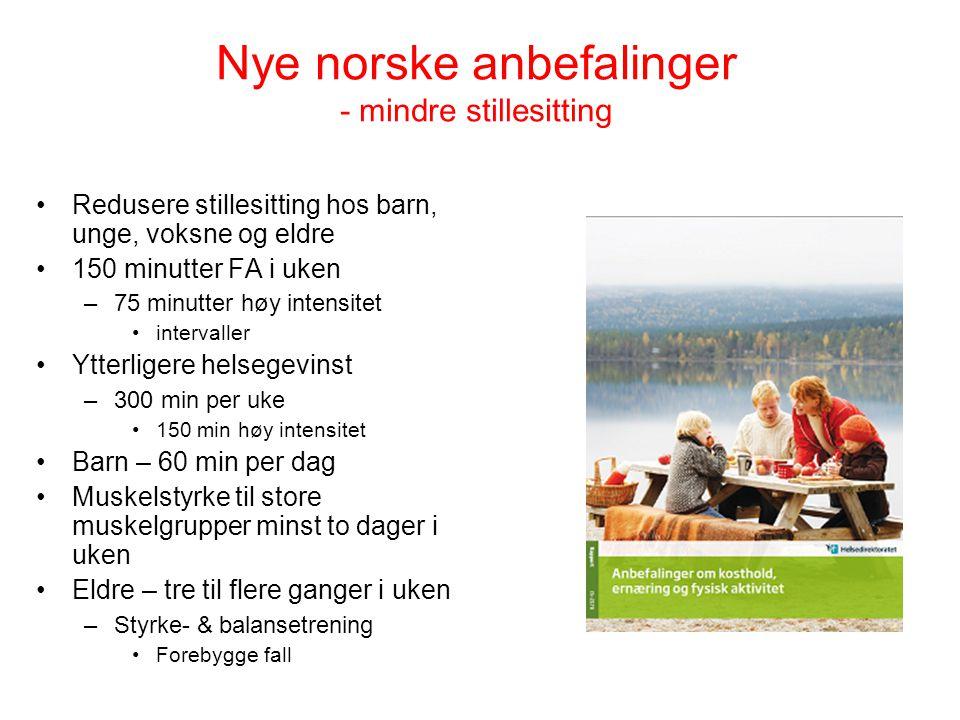 Nye norske anbefalinger