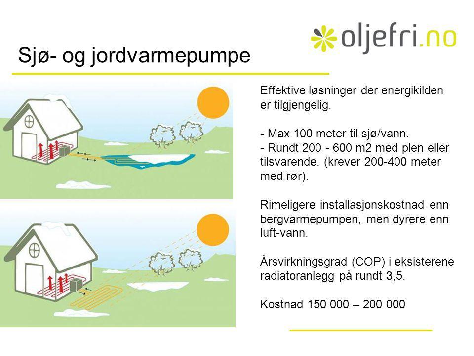 Sjø- og jordvarmepumpe