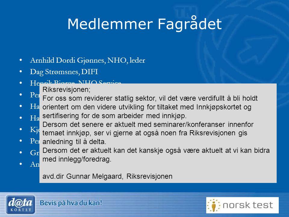 Medlemmer Fagrådet Arnhild Dordi Gjønnes, NHO, leder