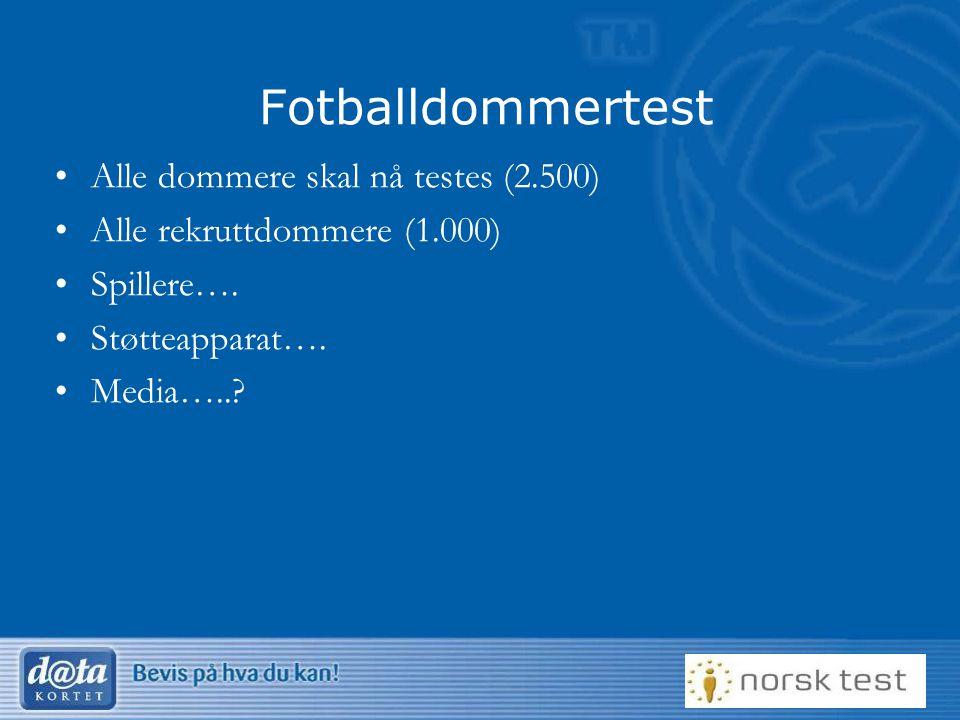 Fotballdommertest Alle dommere skal nå testes (2.500)