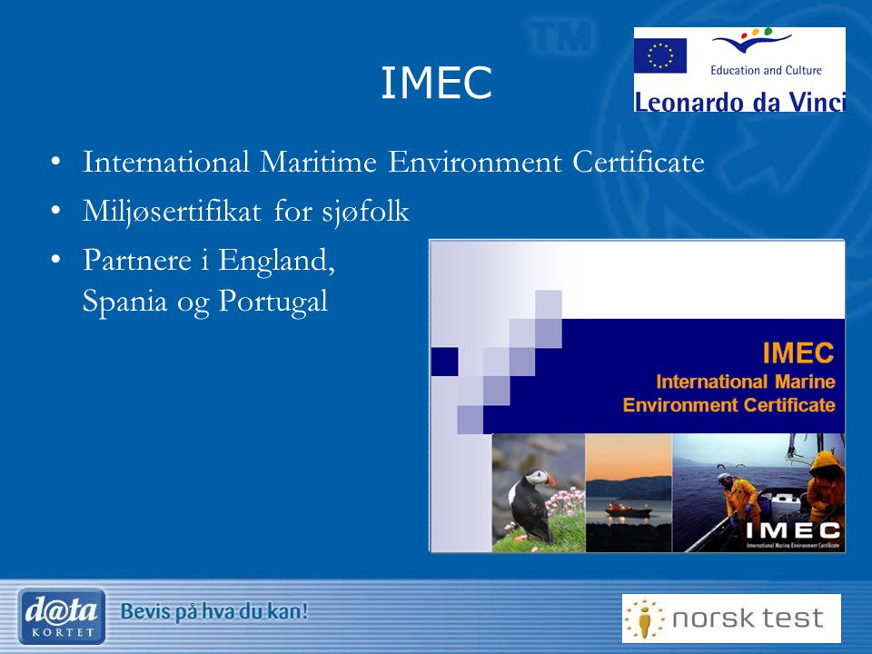 IMEC International Maritime Environment Certificate