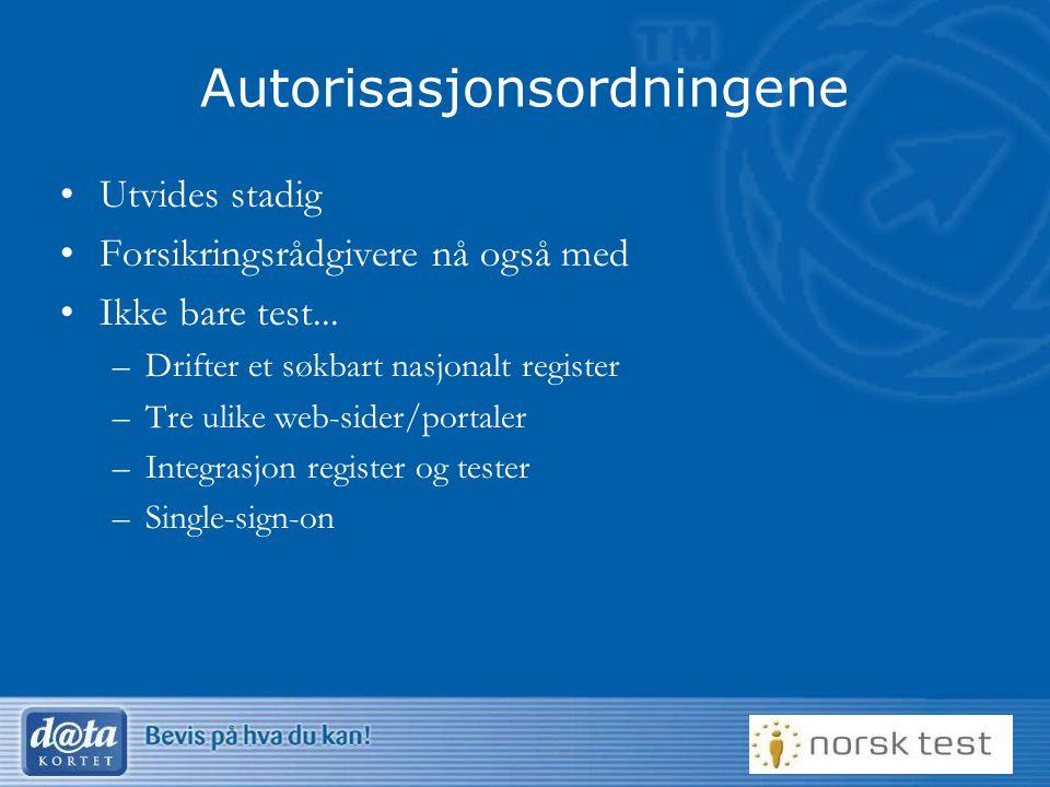 Autorisasjonsordningene