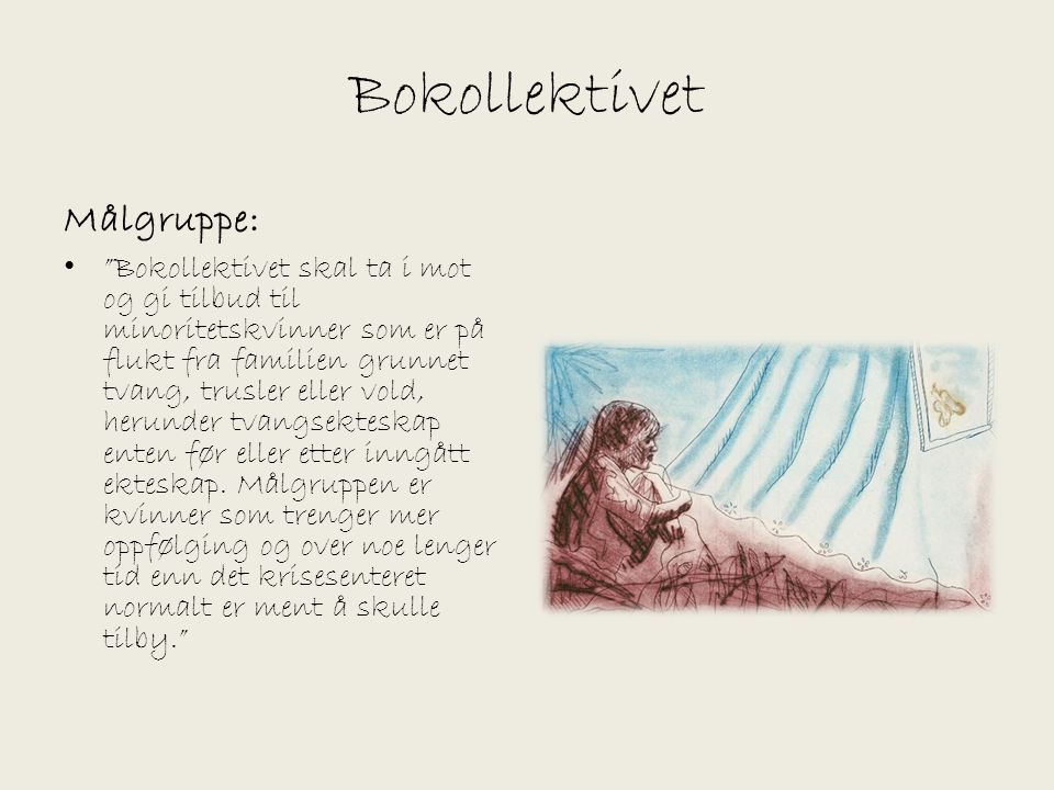 Bokollektivet Målgruppe: