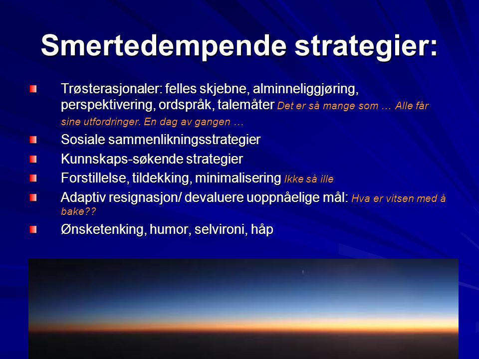 Smertedempende strategier: