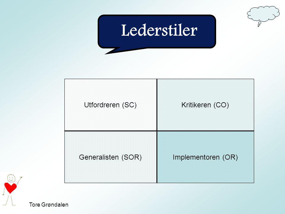 Lederstiler Utfordreren (SC) Kritikeren (CO) Generalisten (SOR)