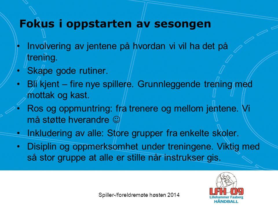 Spiller-/foreldremøte høsten 2014