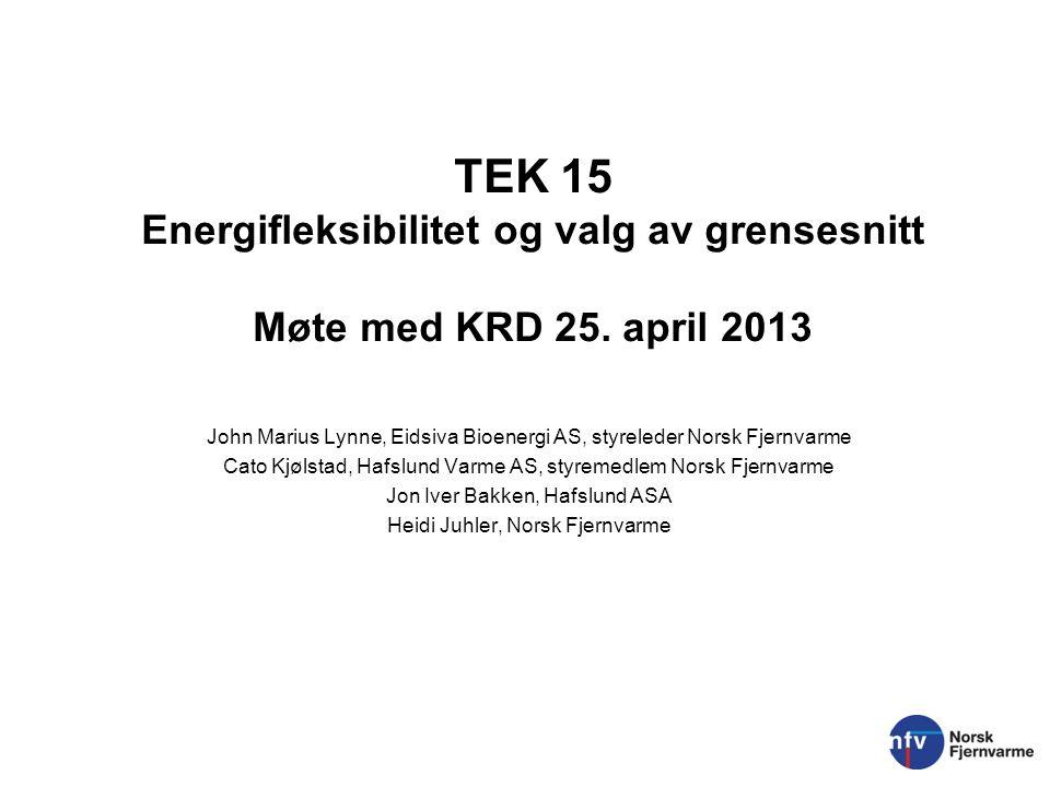 TEK 15 Energifleksibilitet og valg av grensesnitt Møte med KRD 25