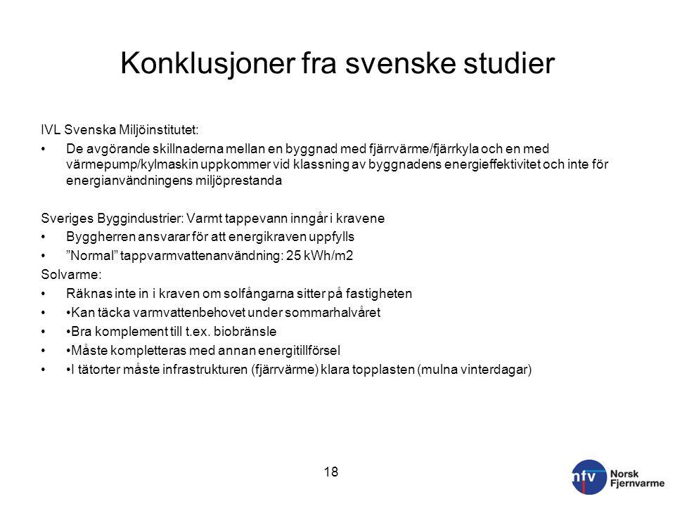 Konklusjoner fra svenske studier