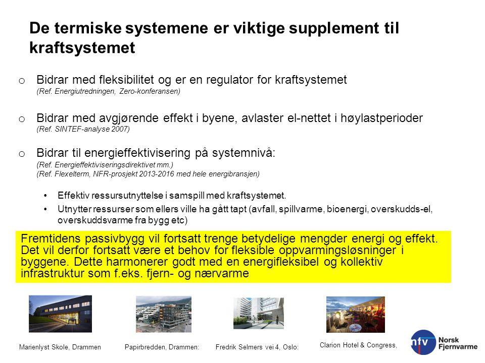 De termiske systemene er viktige supplement til kraftsystemet