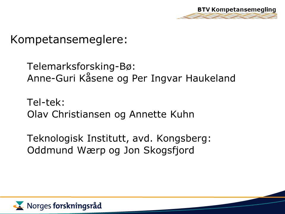 Kompetansemeglere: Telemarksforsking-Bø: