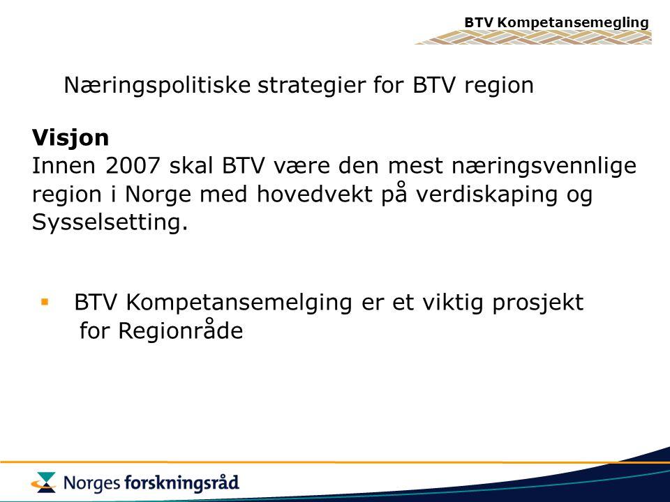 Næringspolitiske strategier for BTV region