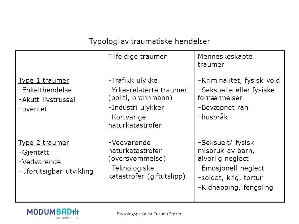 Typologi av traumatiske hendelser