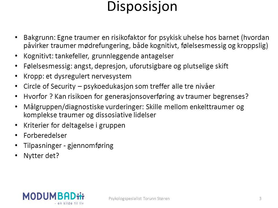 Psykologspesialist Torunn Støren