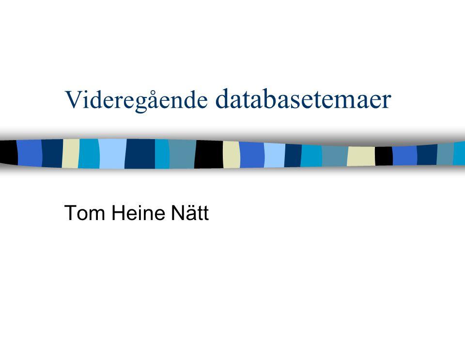 Videregående databasetemaer