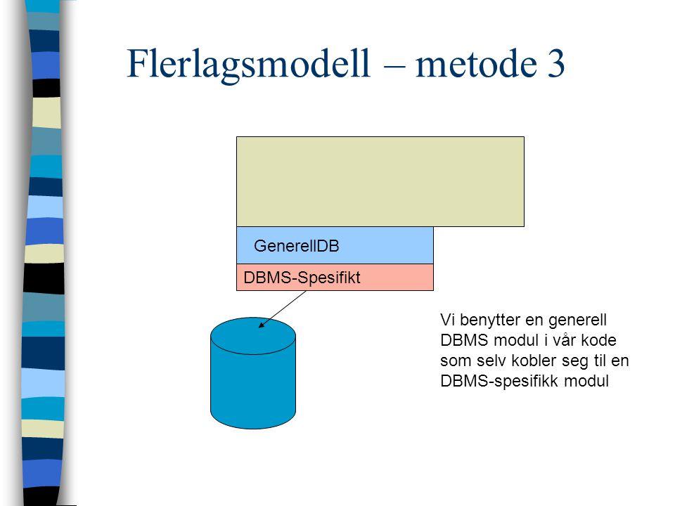 Flerlagsmodell – metode 3