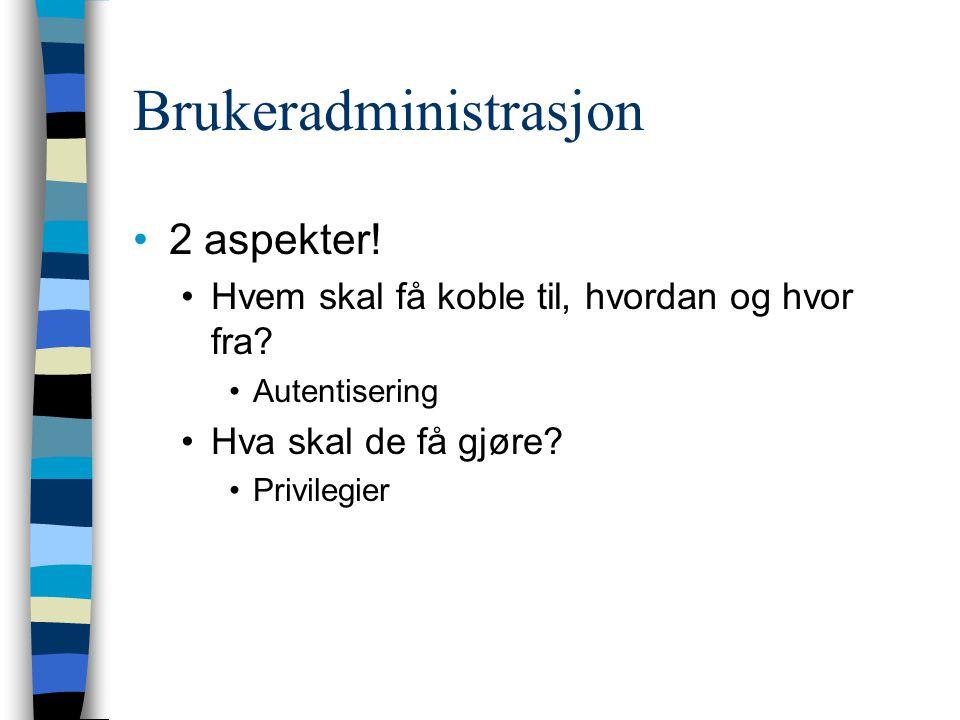 Brukeradministrasjon