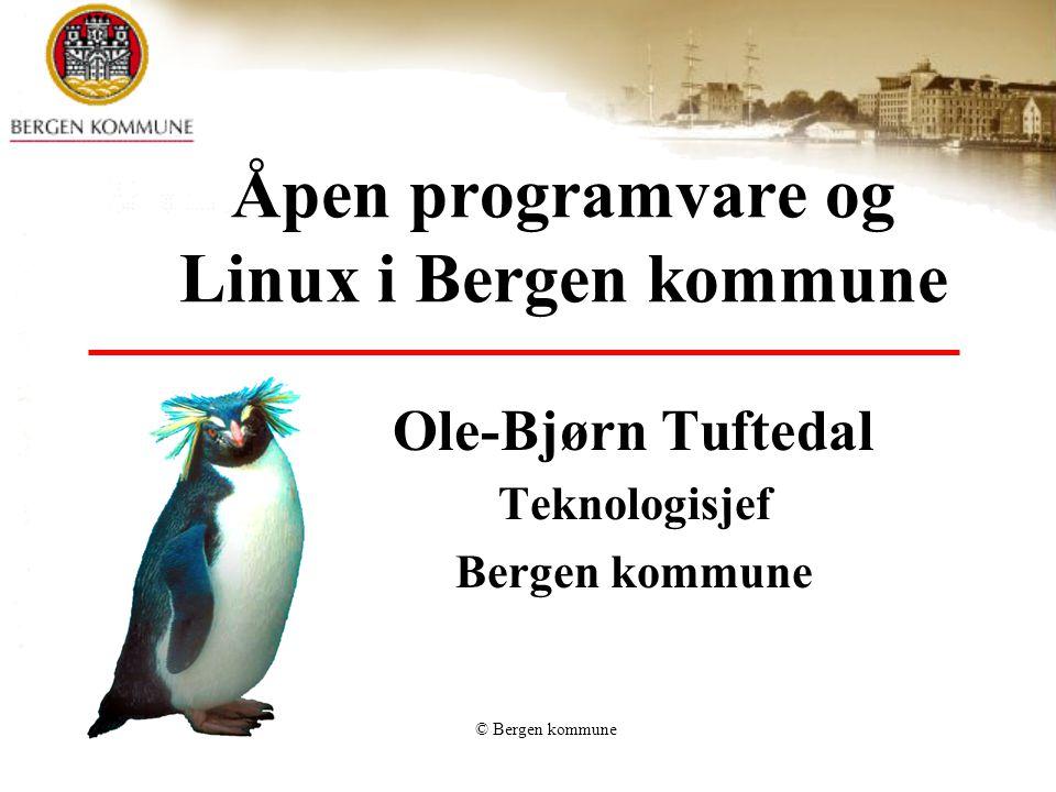 Åpen programvare og Linux i Bergen kommune