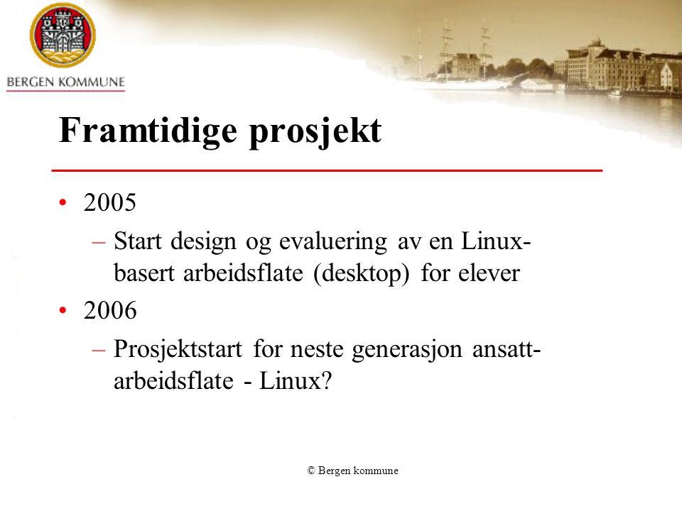 Framtidige prosjekt 2005. Start design og evaluering av en Linux-basert arbeidsflate (desktop) for elever.