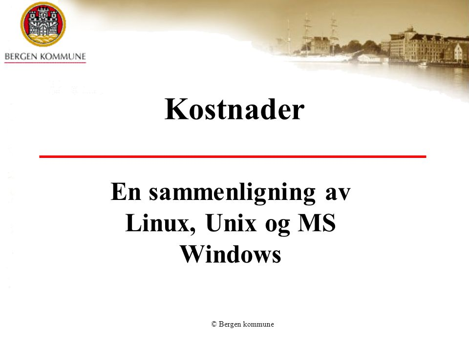 En sammenligning av Linux, Unix og MS Windows
