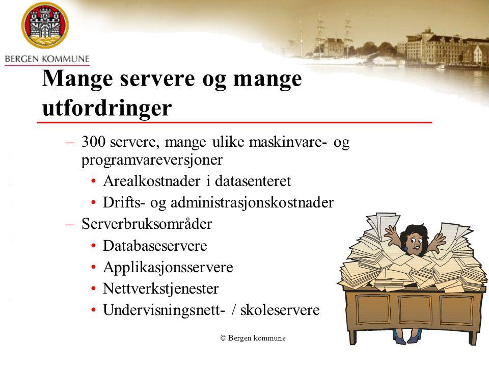Mange servere og mange utfordringer