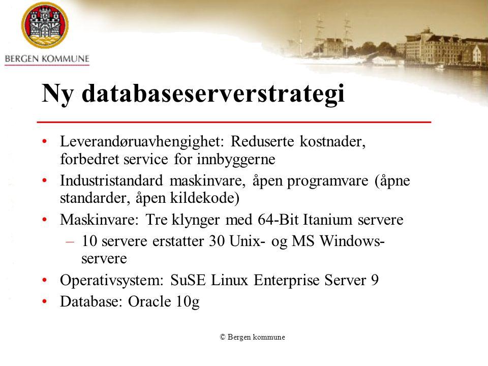 Ny databaseserverstrategi