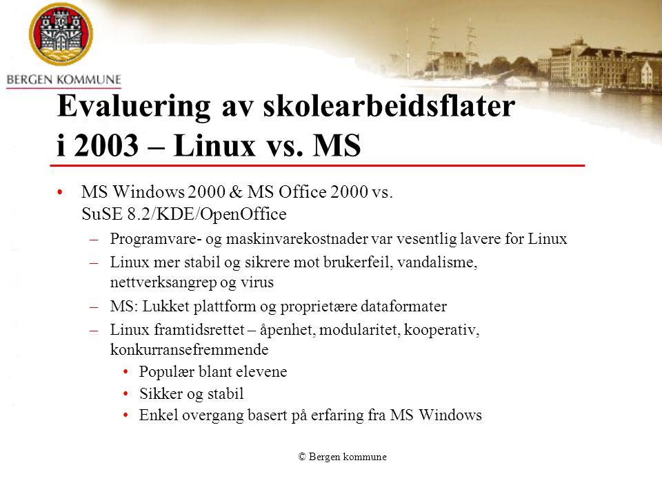 Evaluering av skolearbeidsflater i 2003 – Linux vs. MS
