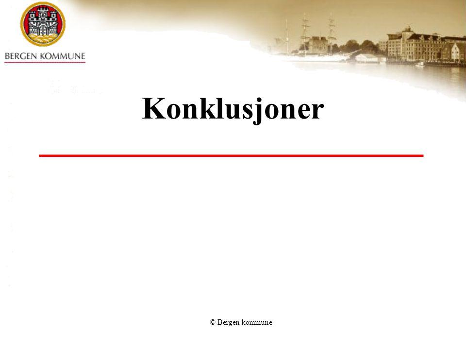Konklusjoner © Bergen kommune