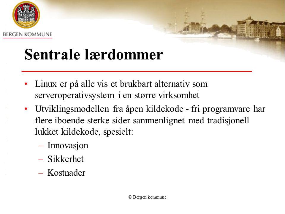 Sentrale lærdommer Linux er på alle vis et brukbart alternativ som serveroperativsystem i en større virksomhet.