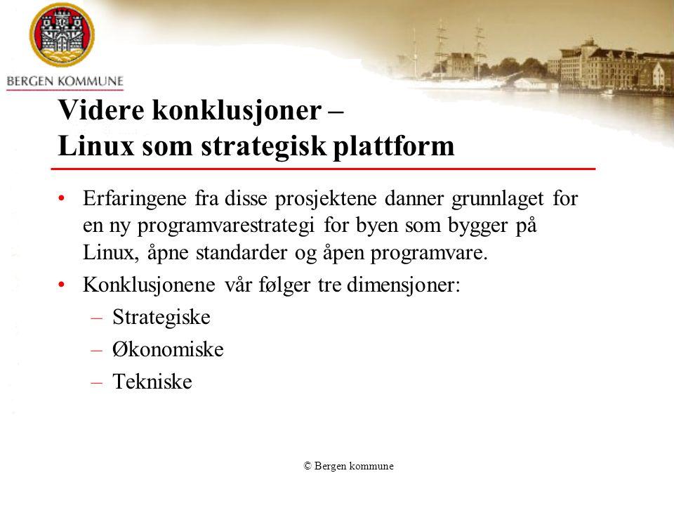 Videre konklusjoner – Linux som strategisk plattform