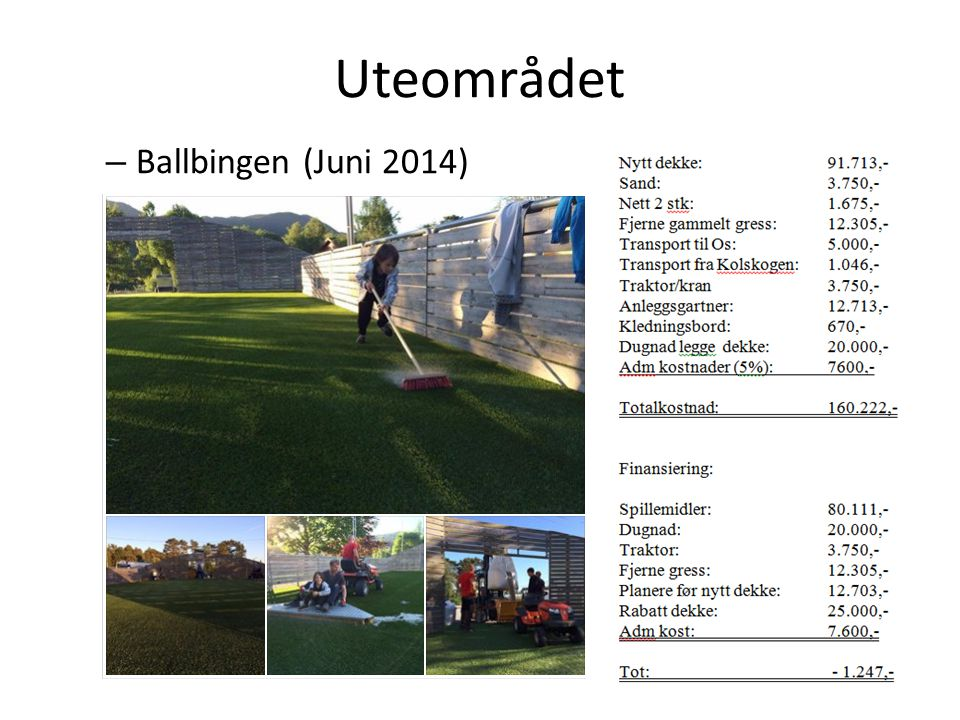 Uteområdet Ballbingen (Juni 2014)