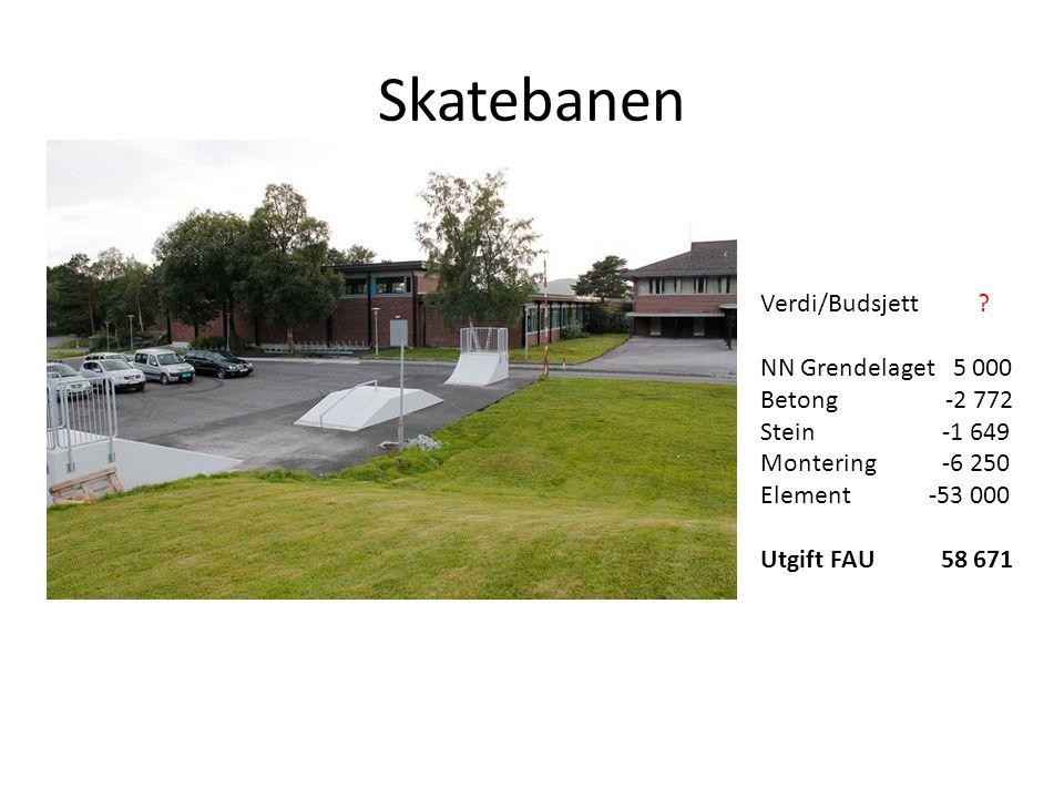 Skatebanen Verdi/Budsjett NN Grendelaget 5 000 Betong -2 772