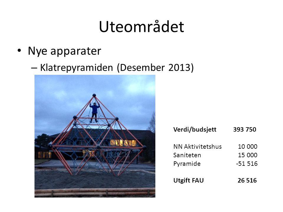 Uteområdet Nye apparater Klatrepyramiden (Desember 2013)