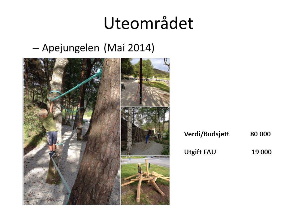 Uteområdet Apejungelen (Mai 2014) Verdi/Budsjett 80 000