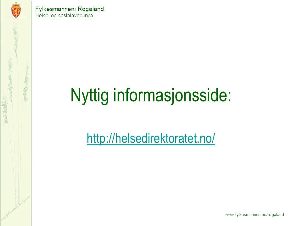 Nyttig informasjonsside: