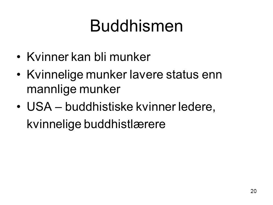Buddhismen Kvinner kan bli munker