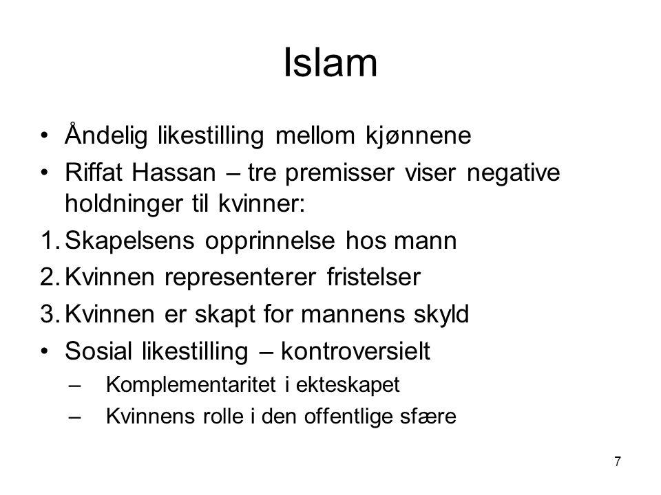 Islam Åndelig likestilling mellom kjønnene