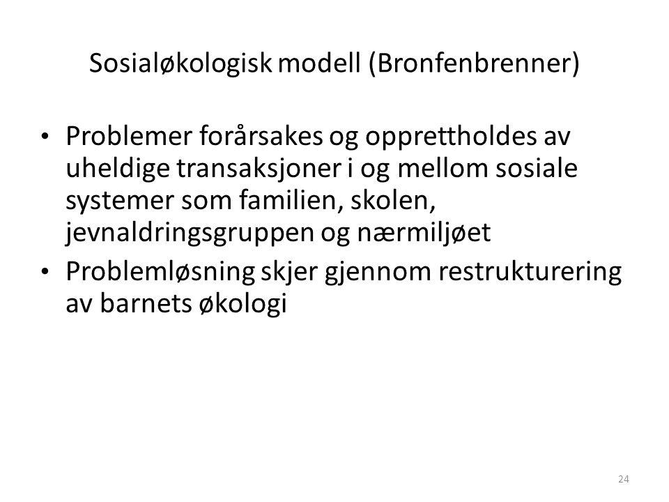 Sosialøkologisk modell (Bronfenbrenner)