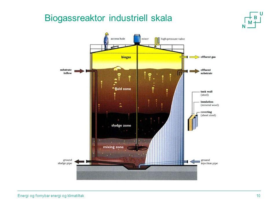 Biogassreaktor industriell skala