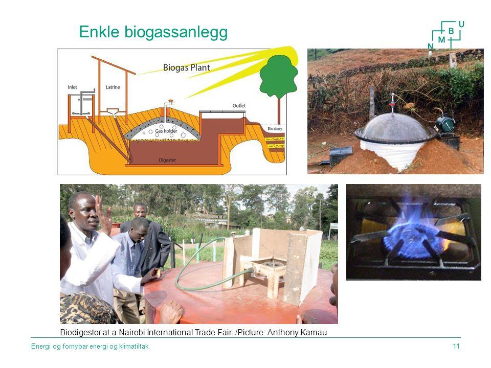 Enkle biogassanlegg Biodigestor at a Nairobi International Trade Fair.