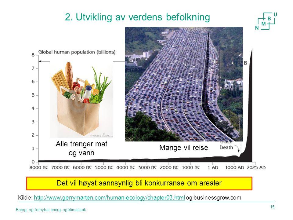 2. Utvikling av verdens befolkning