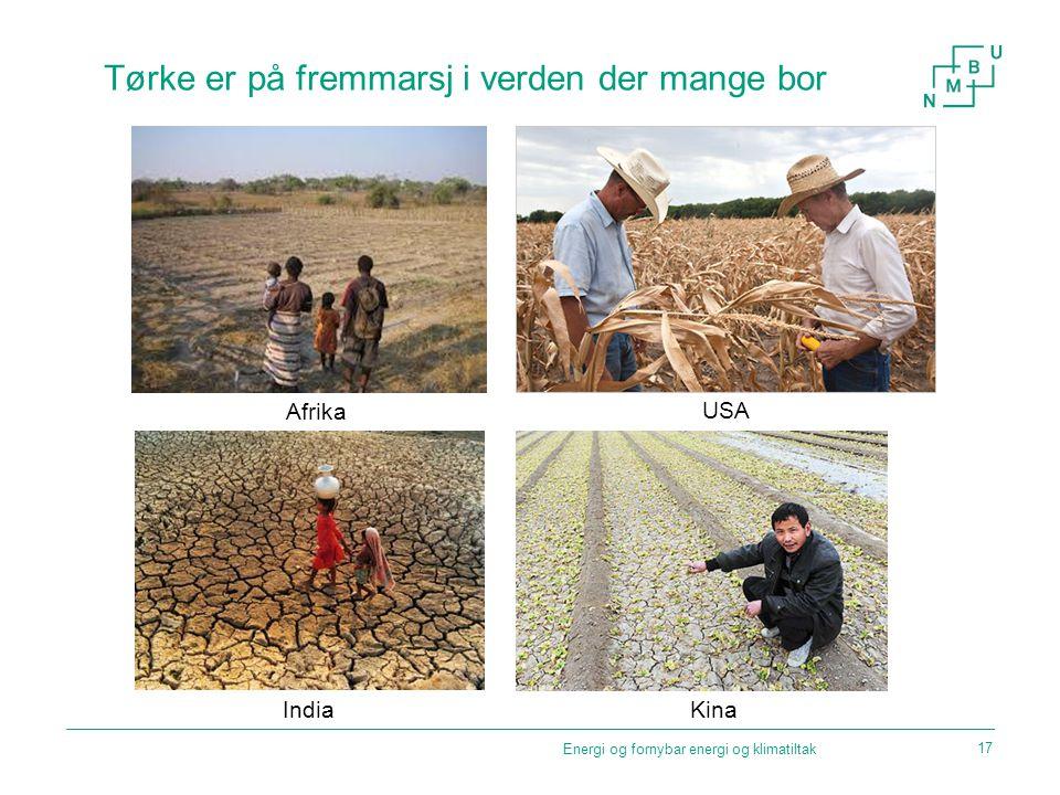 Tørke er på fremmarsj i verden der mange bor