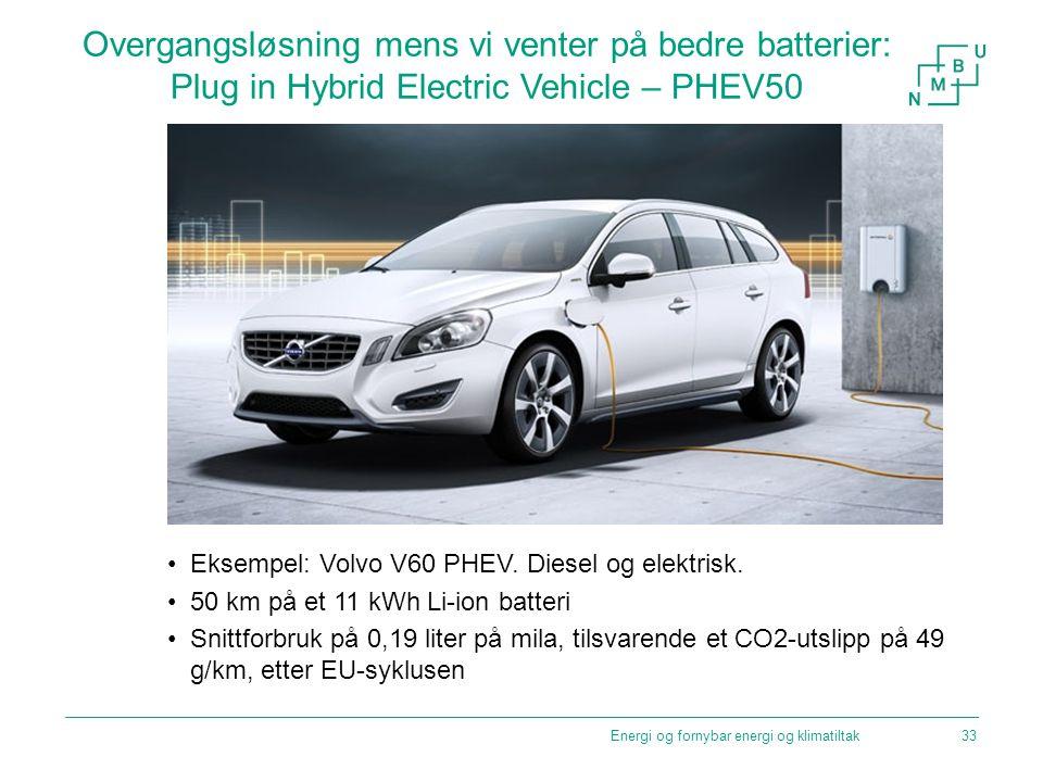 Overgangsløsning mens vi venter på bedre batterier: Plug in Hybrid Electric Vehicle – PHEV50
