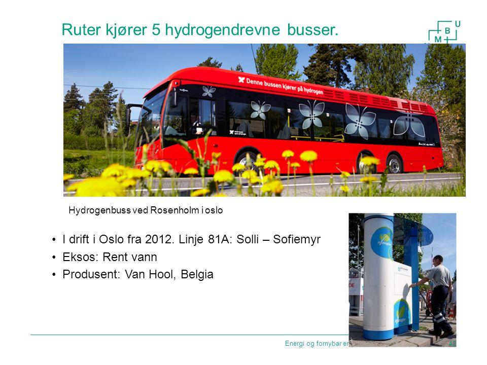 Ruter kjører 5 hydrogendrevne busser.