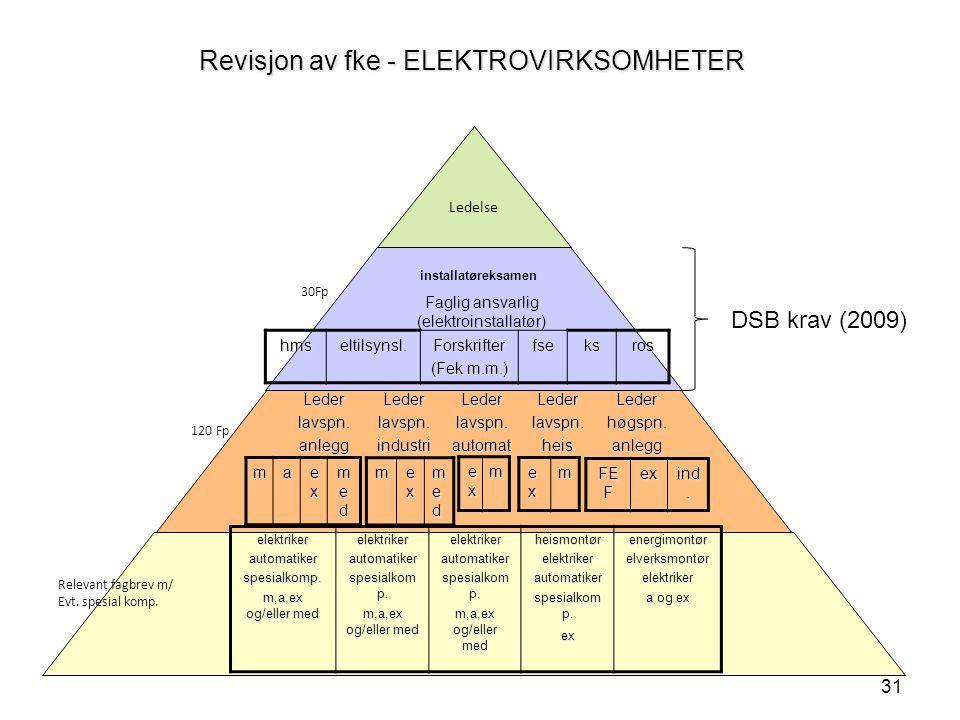 Revisjon av fke - ELEKTROVIRKSOMHETER